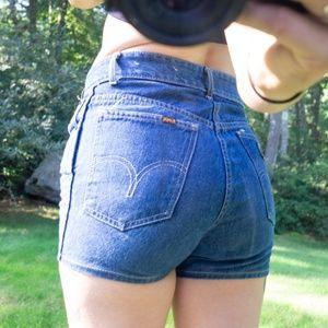 LOIS Vintage 90s High Waisted Denim Shorts Sz 28
